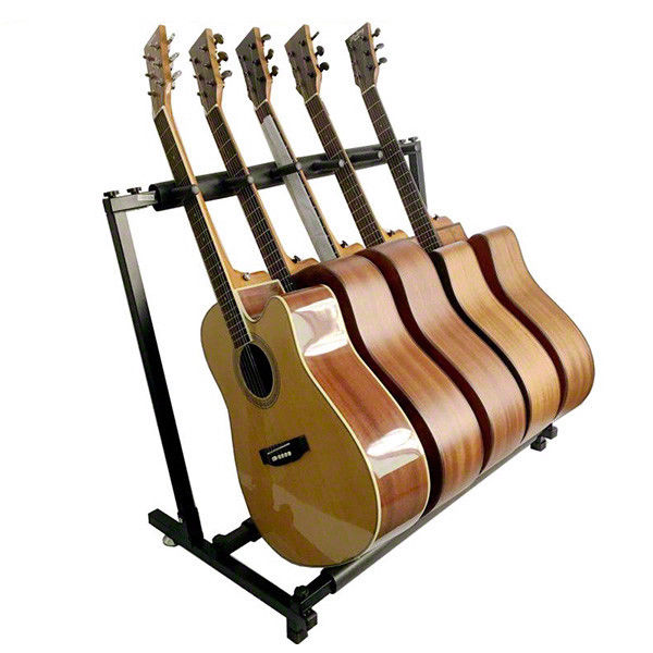 Stylish Guitar Stand Tidy Storage Rack Fits 5 Guitars Metal Padded Foam;  Picture 2 Of 9 ...